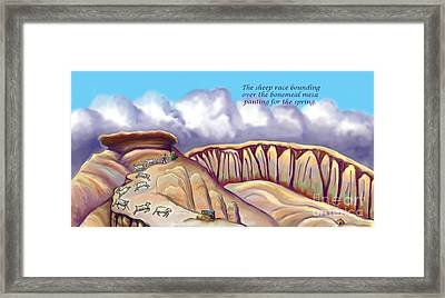Illustrated Haiku 2 - Age 17 Framed Print by Dawn Senior-Trask
