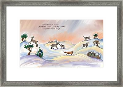 Illustrated Haiku 3 - Age 17 Framed Print by Dawn Senior-Trask