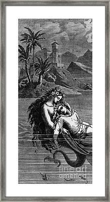 Illustration For The Little Mermaid Framed Print