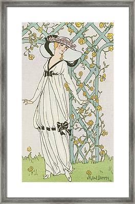 Illustration From Journal Des Dames Et Des Modes Framed Print by H Robert Dammy