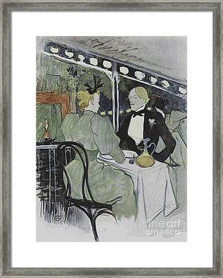 Illustration From Le Plaisir A Paris, Article In Le Figaro Illustre, July 1893 Framed Print