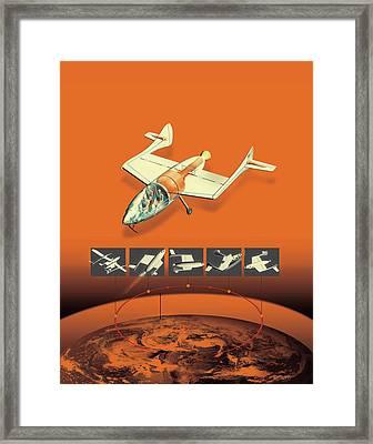 Illustration Of Air Vehicle Framed Print