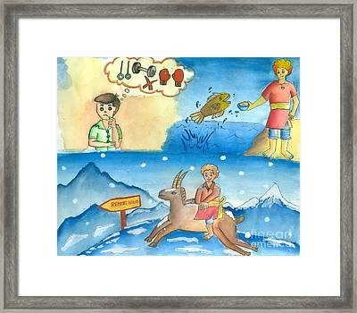 Illustration Practice Framed Print by Tanmay Singh