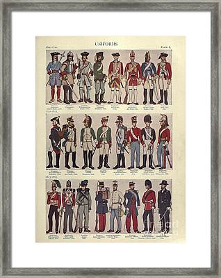 Illustrations Of Military Uniforms Framed Print by MotionAge Designs