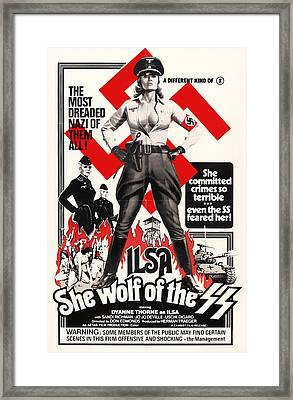 Ilsa - She Wolf Of The Ss 1975 Framed Print by Mountain Dreams