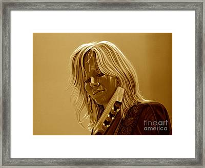 Ilse Delange Of The Common Linnets Framed Print