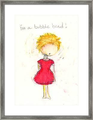 Im A Bobble Head Framed Print by Ricky Sencion