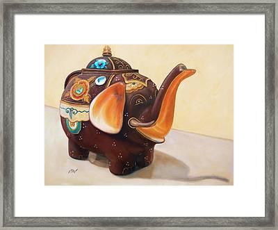 I'm A Little Teapot - Original Oil Painting Framed Print