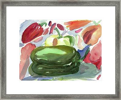 Framed Print featuring the painting I'm  A  Pepper by Joan Zepf