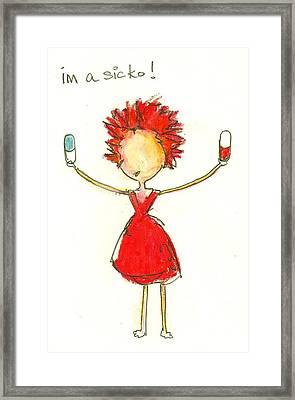 Im A Sicko Framed Print by Ricky Sencion