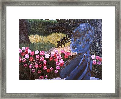 I'm Blue Framed Print by Beth Parrish