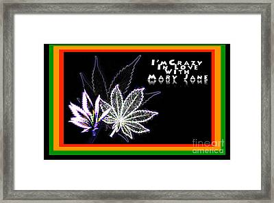 I'm Crazy In Love With Mary Jane Framed Print
