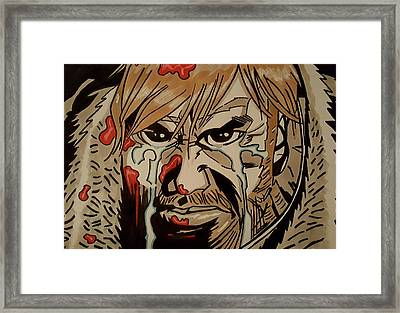 I'm Going To Kill You  Framed Print by Oscar Rodriguez III
