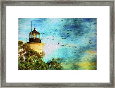 Framed Print featuring the photograph I'm Here To Watch You Soar II by Jan Amiss Photography