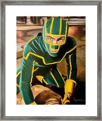 I'm Kick-ass Framed Print by Al  Molina