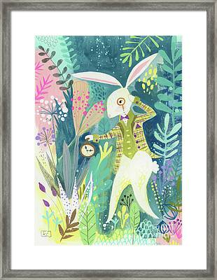 I'm Late Framed Print by Kate Cosgrove
