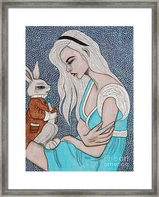 I'm Late Framed Print by Natalie Briney