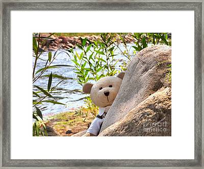 I'm Not Lost...because I Found You Framed Print