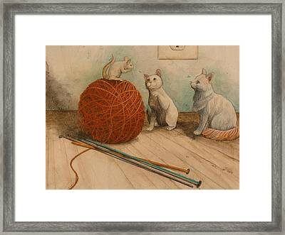Im Not Supposed To Play With Strangers Framed Print by Sandy Clift