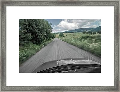I'm On My Way Framed Print by Betsy Knapp
