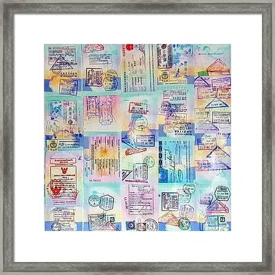 I'm Onto Passport 3 Now So I Put My Framed Print by Dante Harker