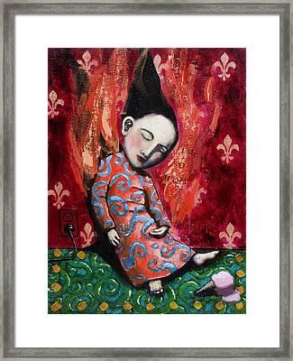 I'm So Hot Framed Print by Pauline Lim