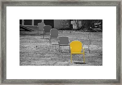 I'm So Yellow. Framed Print