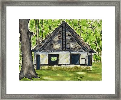 Framed Print featuring the painting I'm Still Standing by Joan Zepf