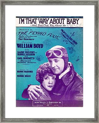 I'm That Way About Baby Framed Print by Mel Thompson