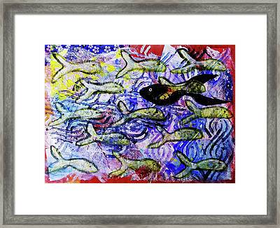 I'm The Black Fish Of The Family Framed Print