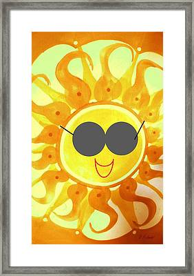 Framed Print featuring the painting I'm Too Hot For My Shades by Denise Fulmer