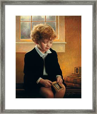 I'm Trying To Be Like Jesus Framed Print by Greg Olsen