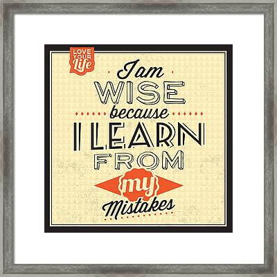 I'm Wise Framed Print by Naxart Studio
