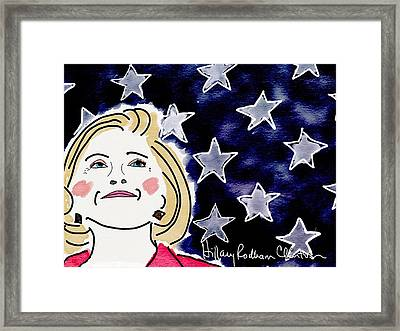 I'm With Her Framed Print by Jim Smith
