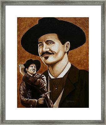 I'm Your Huckleberry Framed Print