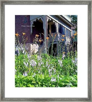 Image Included In Queen The Novel - New England Victorian House Enhanced Framed Print by Felipe Adan Lerma
