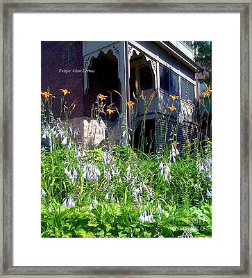 Image Included In Queen The Novel - New England Victorian House Framed Print by Felipe Adan Lerma