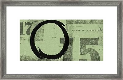 Image Of Peace Framed Print by Julie Niemela