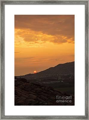 Sunrise Over Gokceada Island  Framed Print