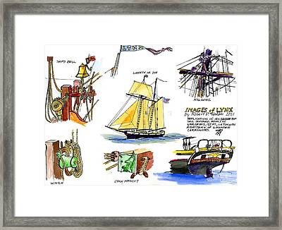 Images Of Tallship Lynx Framed Print by Robert P Hedden