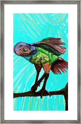 Imaginary Bird Rests Framed Print by Emmanuel Sebastian