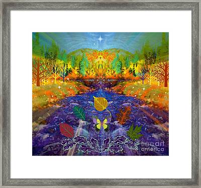 Imaginary Place Framed Print by Annie Gibbons
