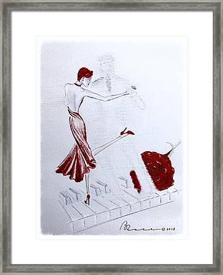 Imaginary Tango Framed Print by Barbara Chase