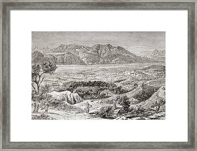 Imaginary View Of The City Of Ancient Framed Print