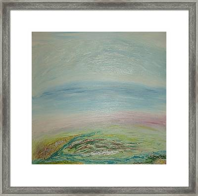 Imagination 7. Landscape. Three Dimensions. View From The Sky. Framed Print