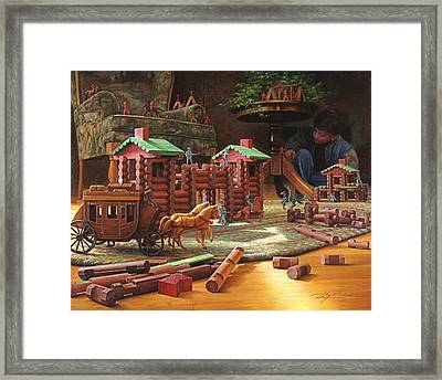 Imagination Final Frontier Framed Print