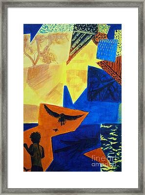 Framed Print featuring the painting Imagination by Maria Langgle