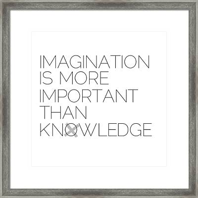 Imagination Framed Print