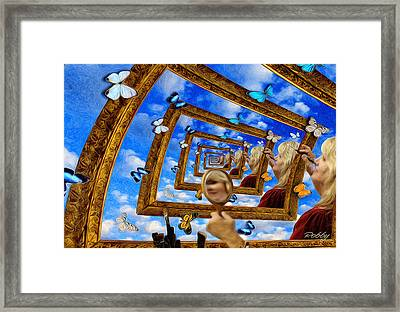 Framed Print featuring the painting Imaginations by Robby Donaghey
