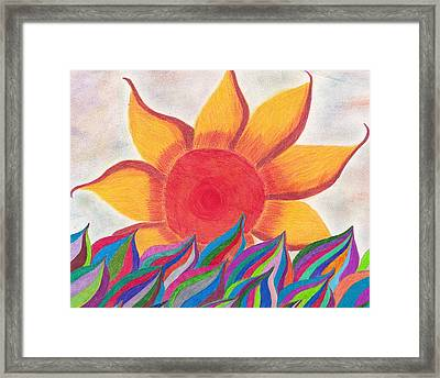 Imagination's Sun Framed Print by Laurie Gibson